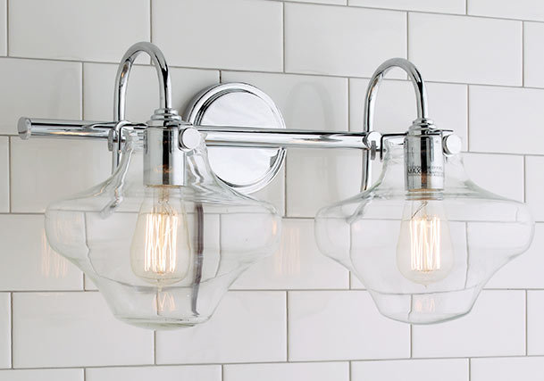 Bathroom vanity lighting distinguish your style shades of light retro bath styles aloadofball Gallery