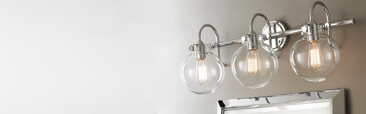 Bathroom Light Fixtures Silver bathroom & vanity lighting | distinguish your style - shades of light