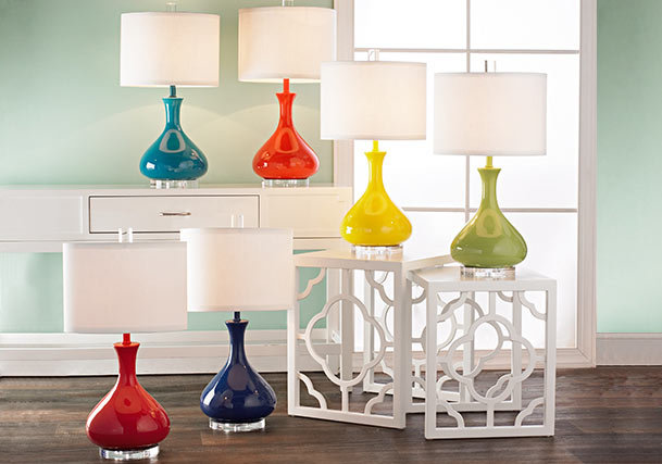 Table lamps distinguish your style shades of light colorful table lamps aloadofball Gallery