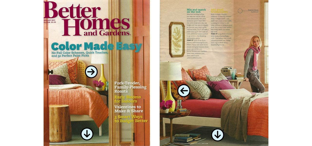 Better Homes And Gardens February 2011 Shades Of Light