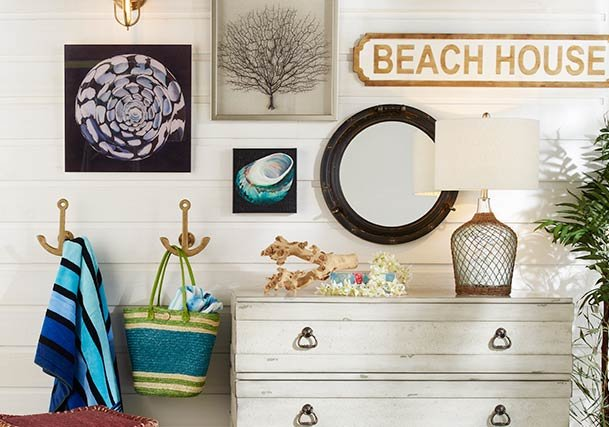 Nautical, Coastal and Beach Style Lighting, Rugs & Home Decor