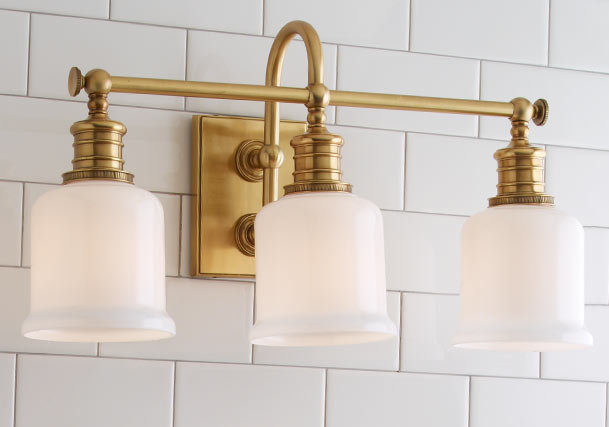 Bathroom Vanity Lights Brass bathroom & vanity lighting | distinguish your style - shades of light