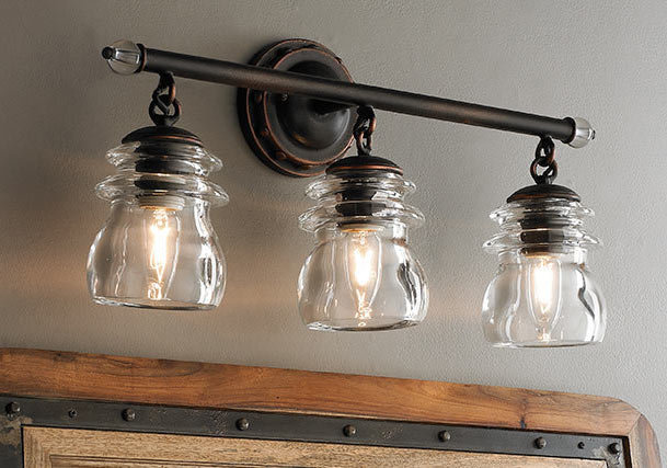 Bathroom Light Fixtures Industrial bathroom & vanity lighting | distinguish your style - shades of light