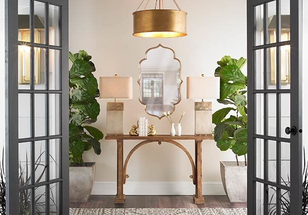Transitional Style Lighting, Rugs & Home Decor