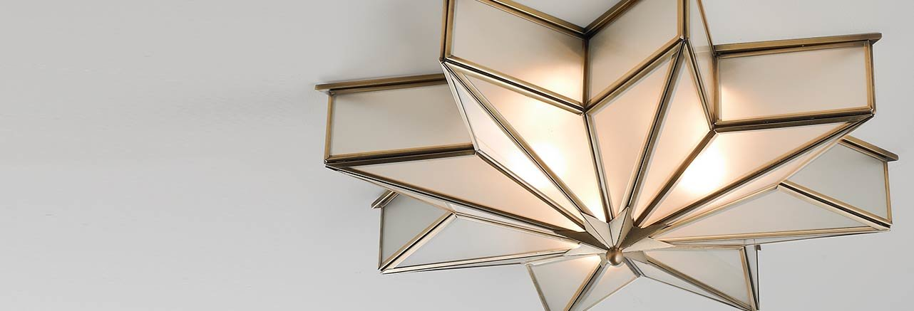 Close to ceiling light fixture