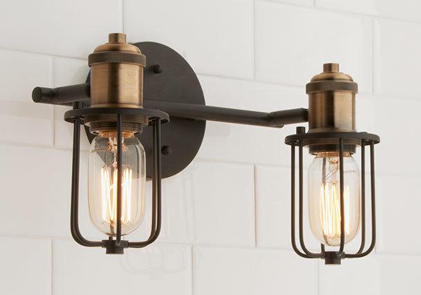 Industrial Chic to Rustic Farmhouse Bath Lights