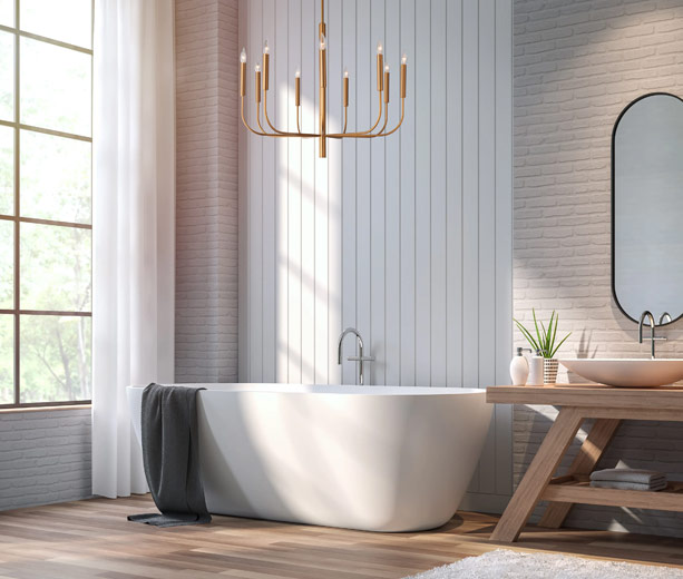 How to Add Chandelier Lighting to Any Size Bathroom